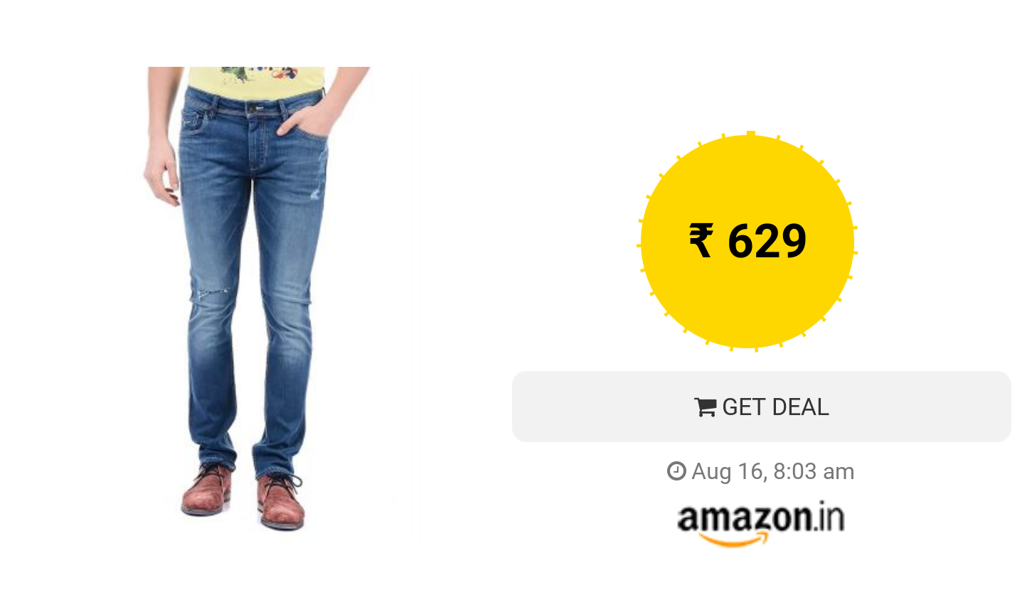 70% Off on Flying Machine Men's Jeans Starts from Rs  629