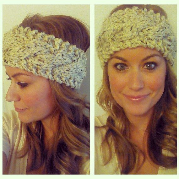 Chunky Cable Knit Head Warmer choose your by LittleBuffaloKnits ...