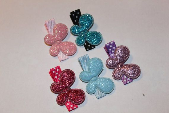 BUtterfly Hair CLippie Collection/non slip by mycutesies on Etsy, $6.00