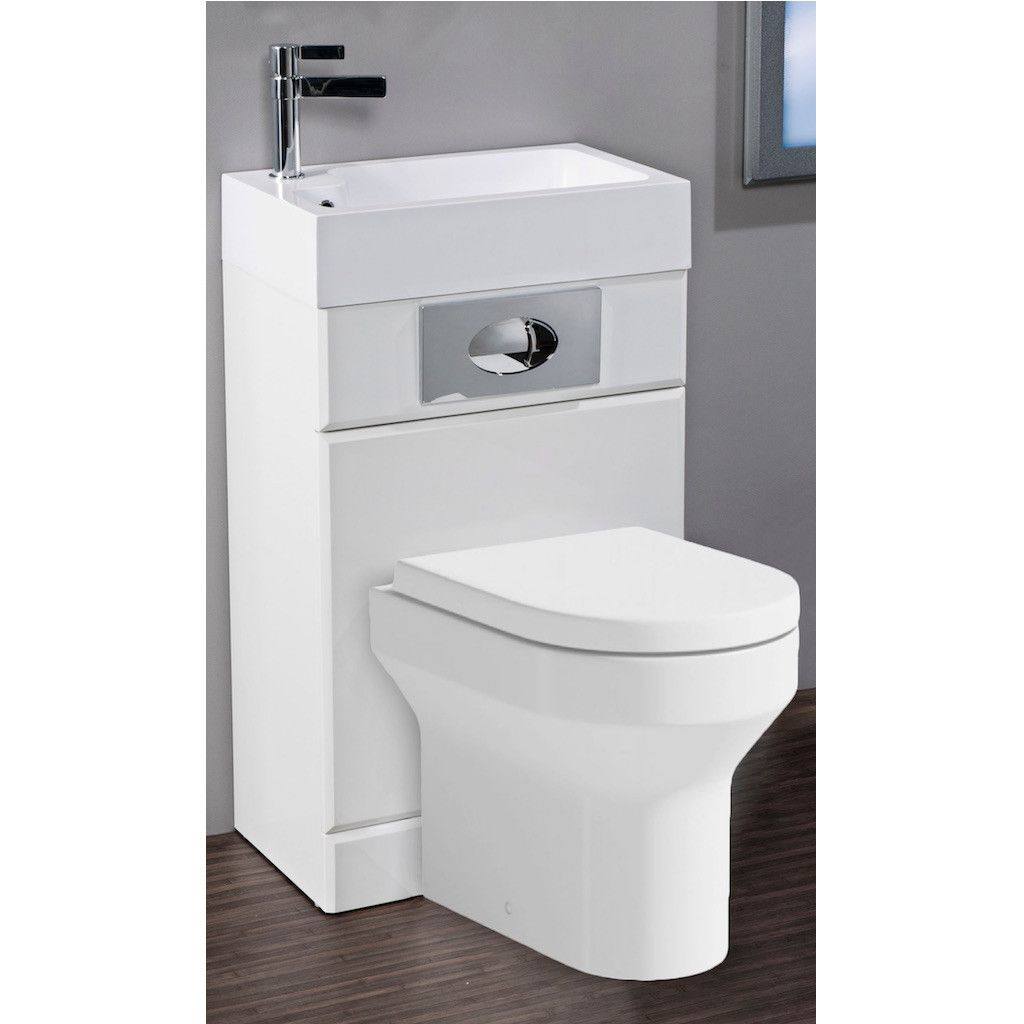 Futura Basin And Wc Unit Combination Pack With Montego Wc And Cistern White Small Toilet Room Space Saving Toilet Small Bathroom