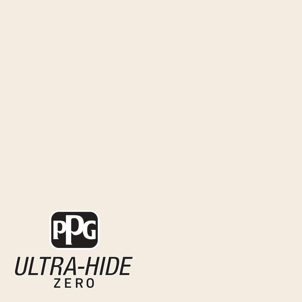 PPG 5 gal. #HDPWN41U Ultra-Hide Zero Swiss Coffee Flat Interior Paint-HDPWN41UZ-05F - The Home Depot