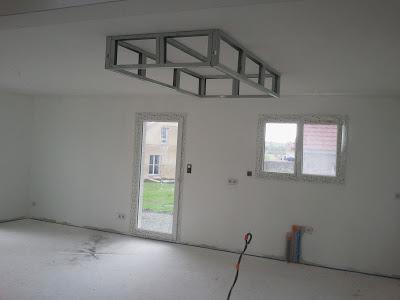Un Caisson Decaissement Au Plafond Faux Plafond En Placo Plafond En Placo Plafond Cloison Placo