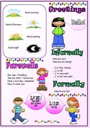 Greetings Introducing People Worksheet Grammar For Kids English Worksheets For Kids Kids English Simple greetings worksheets for kindergarten