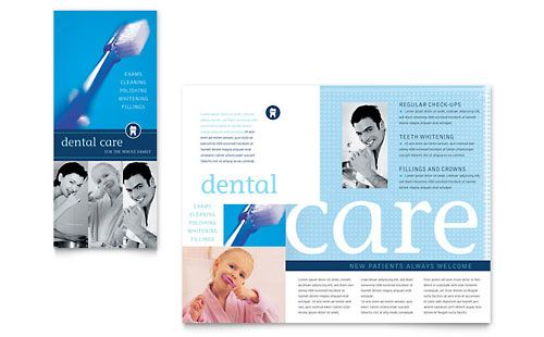 Dentist Office Brochure Template By Stocklayouts  Dental