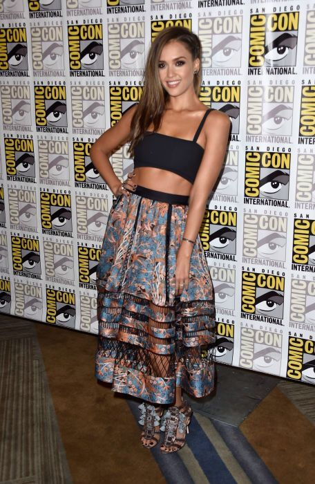 Jessica Alba is adorbs in this Zimmermann outfit. Credit: fashionista.com