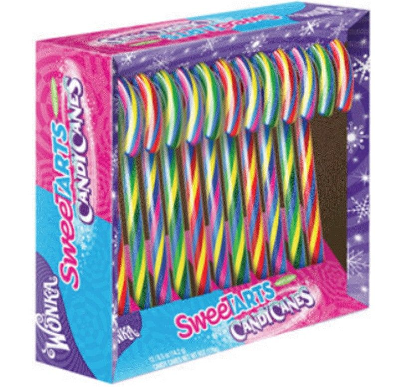 wonka sweetarts candy canes zucherstangen 12 st ck 170g. Black Bedroom Furniture Sets. Home Design Ideas
