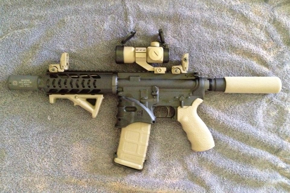 My Custom Build Ar 15 Pistol With Fde Magpul Accessories And Noveske
