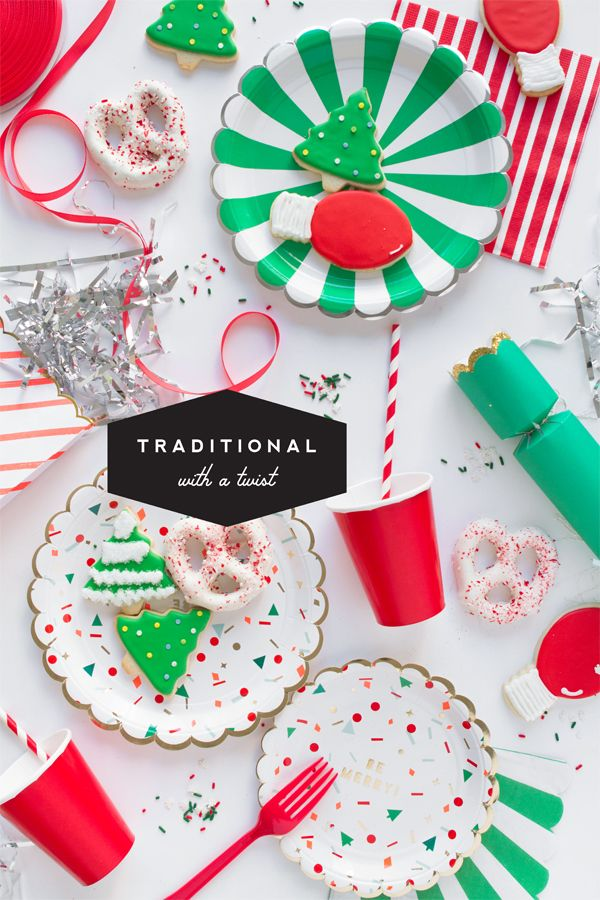 Christmas Day Party Ideas Part - 15: Christmas Party Supplies (Oh Happy Day!)