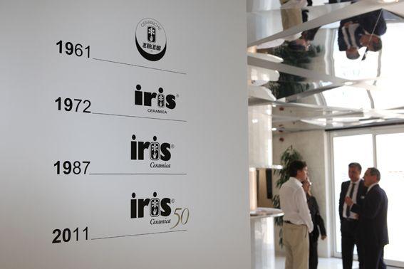June 2011, Iris showroom, Fiorano Modenese. Iris Ceramica 50 year anniversary.