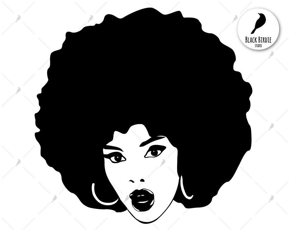 Black woman svg black woman clipart afro svg afro clipart