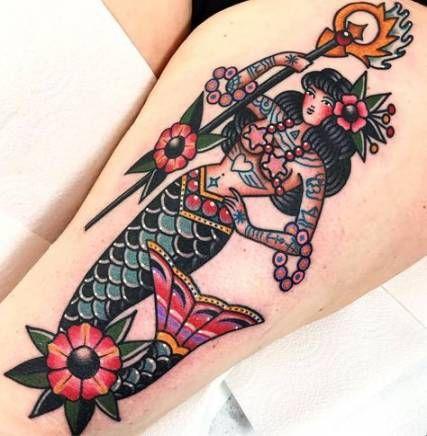 43 Trendy Vintage Mermaid Tattoo Sleeve Old School