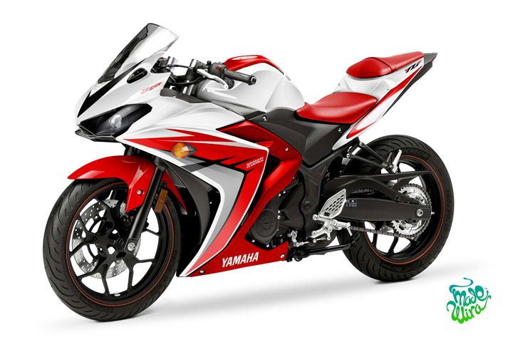 Yamaha YZF R25 / R3 Blast White | Decals | Motos y Repisas