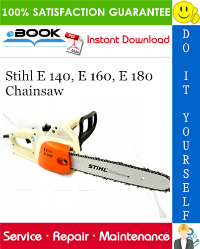 Stihl E 140 E 160 E 180 Chainsaw Service Repair Manual Stihl Repair Manuals Repair
