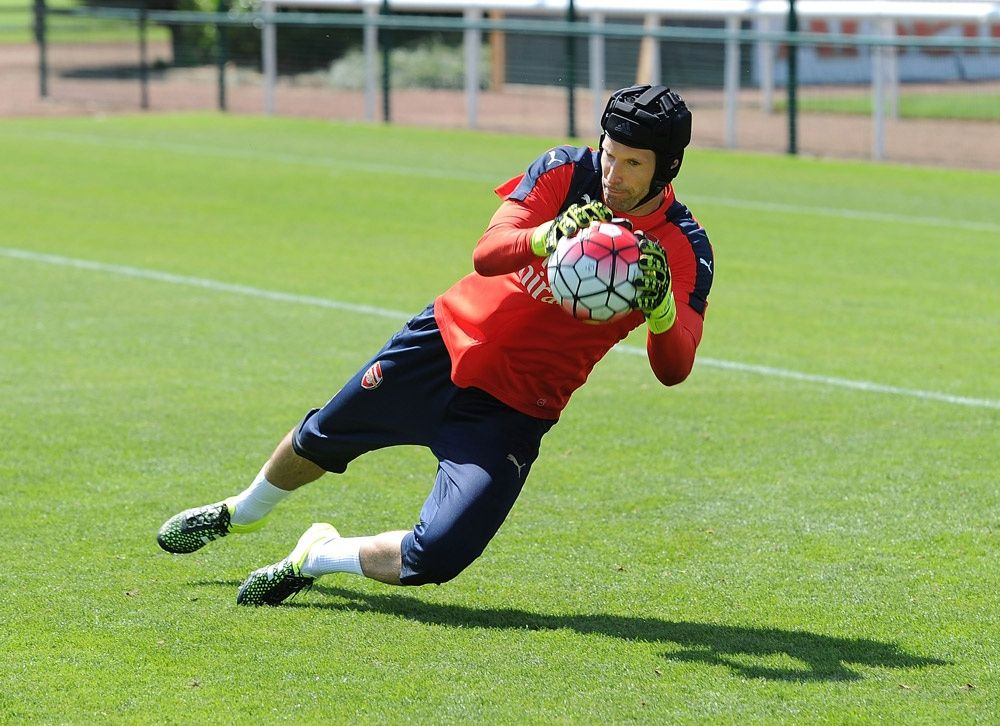 Petr Cech's First Training Session
