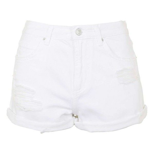 cf5ae458dec Topshop Moto  Rosa  Ripped Denim Shorts ( 50) ❤ liked on Polyvore featuring  shorts