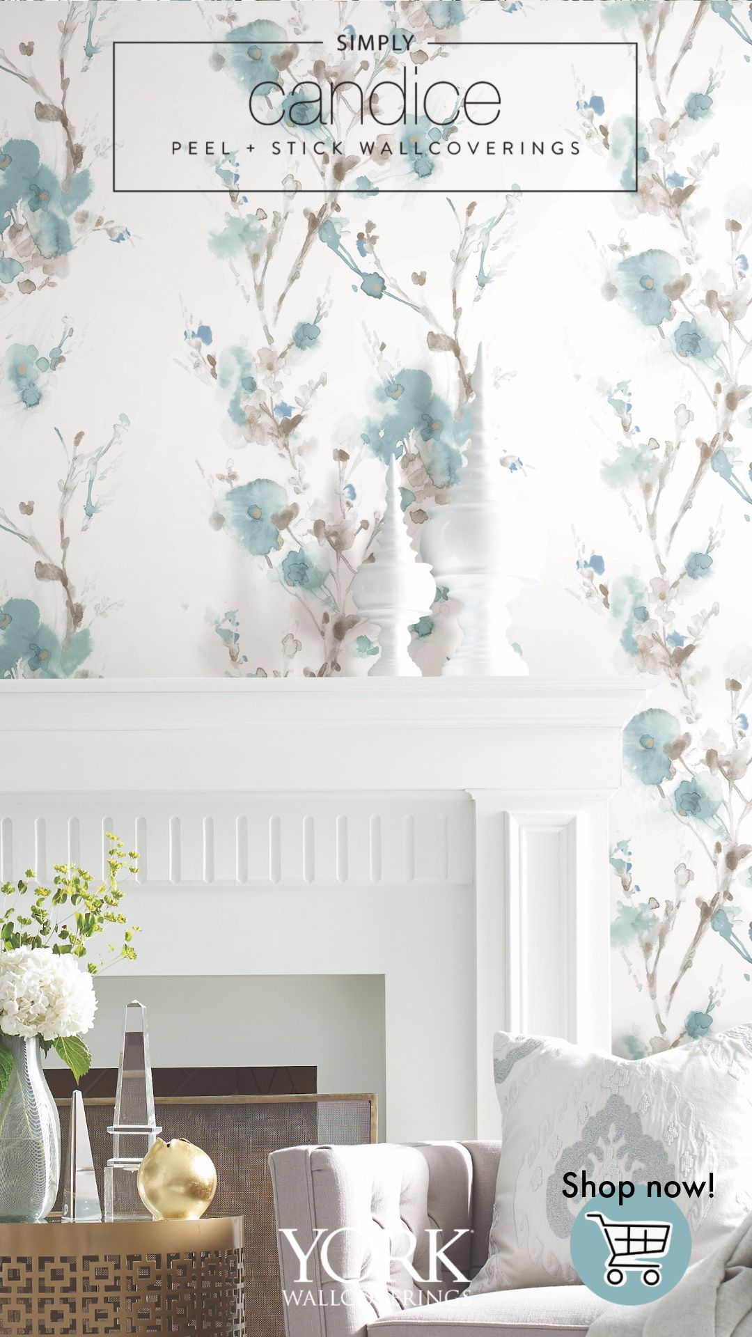 Charm Premium Peel And Stick Wallpaper Peel And Stick Wallpaper Room Visualizer Candice Olson Wallpaper