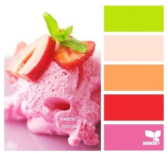 cute and girly color schemes infographic inspiration pinterest