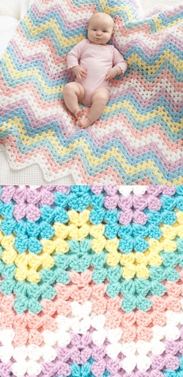 Crochet Baby Blanket Patterns #babyblanket