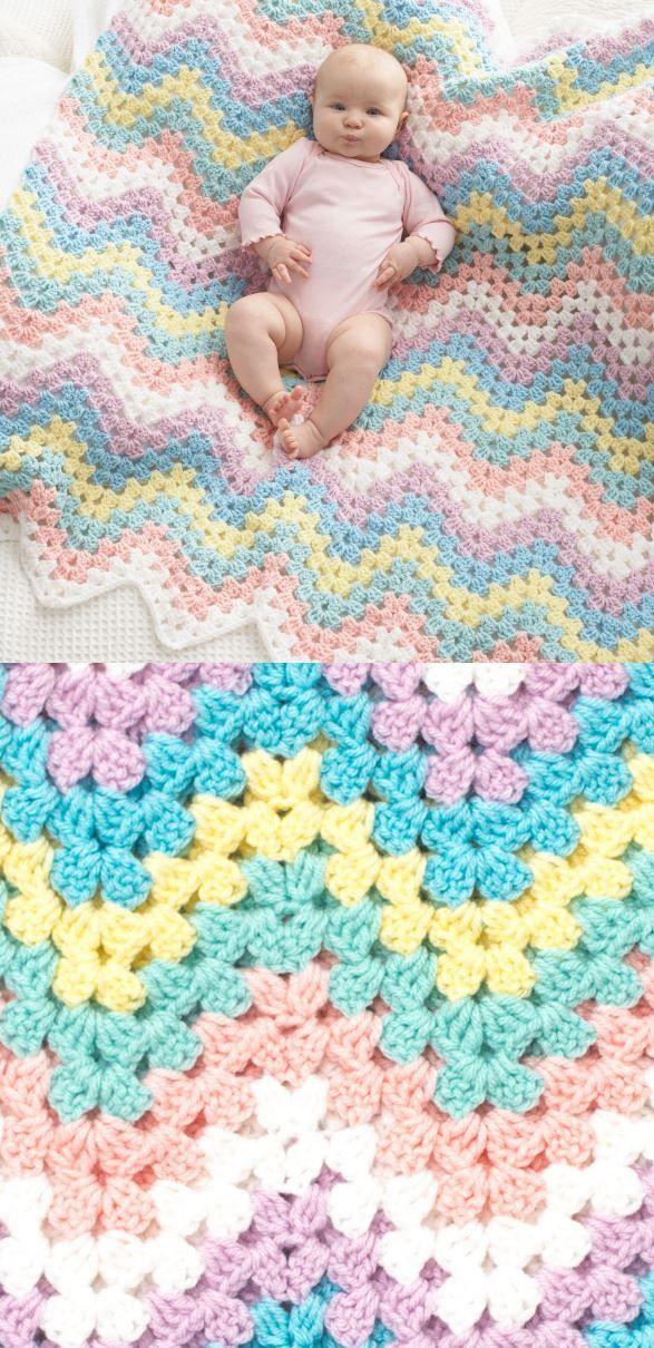 Crochet Baby Blanket Patterns #babyblanket