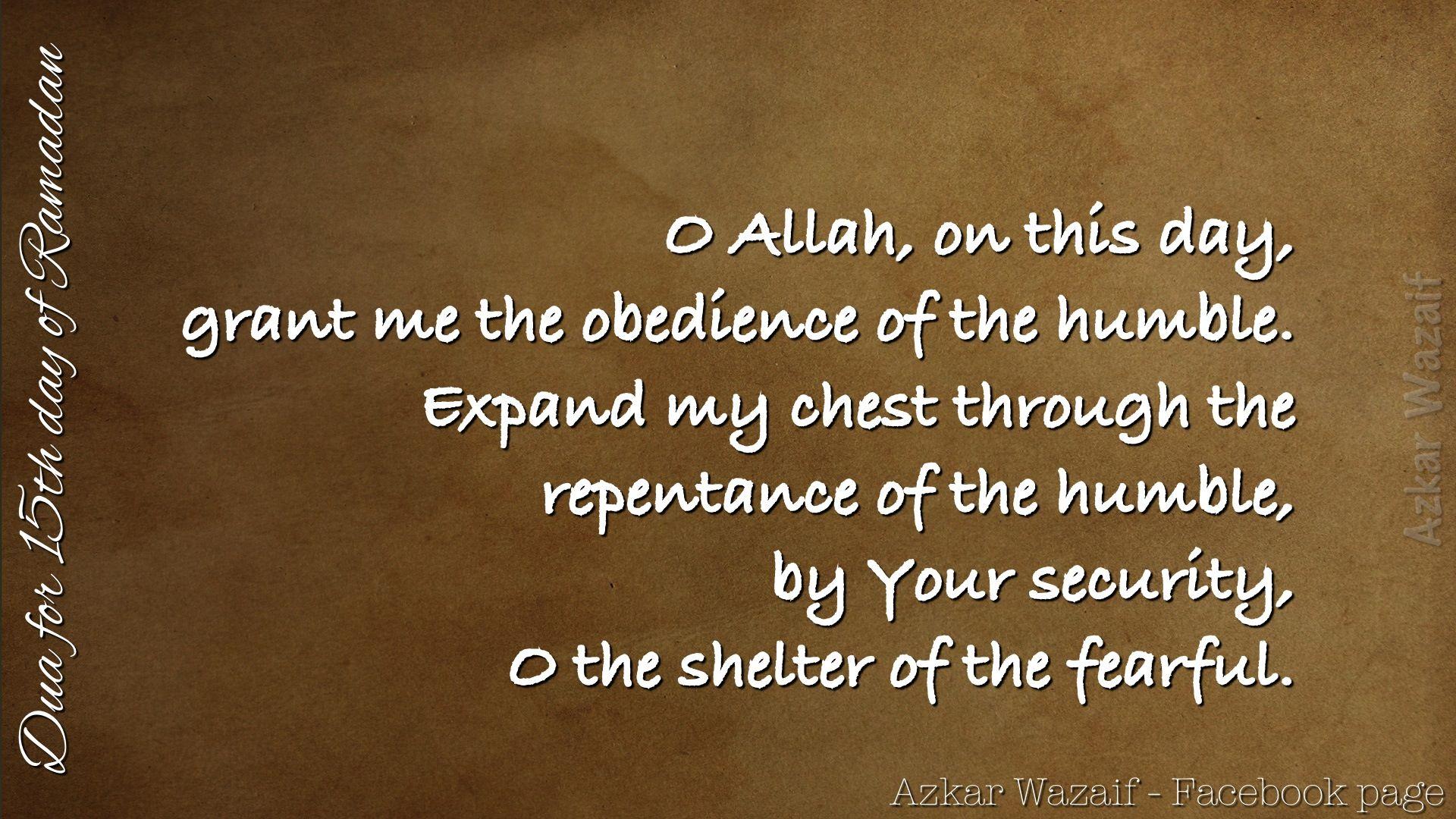 Dua For 15th Day Of Ramadan.