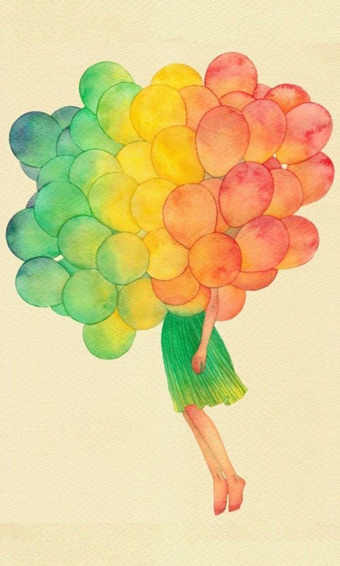 尺寸 480*800 插画手绘 二次元美女 动漫 水彩 水粉画 韩国插画 壁纸