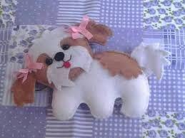 Resultado de imagem para molde de cachorro em feltro