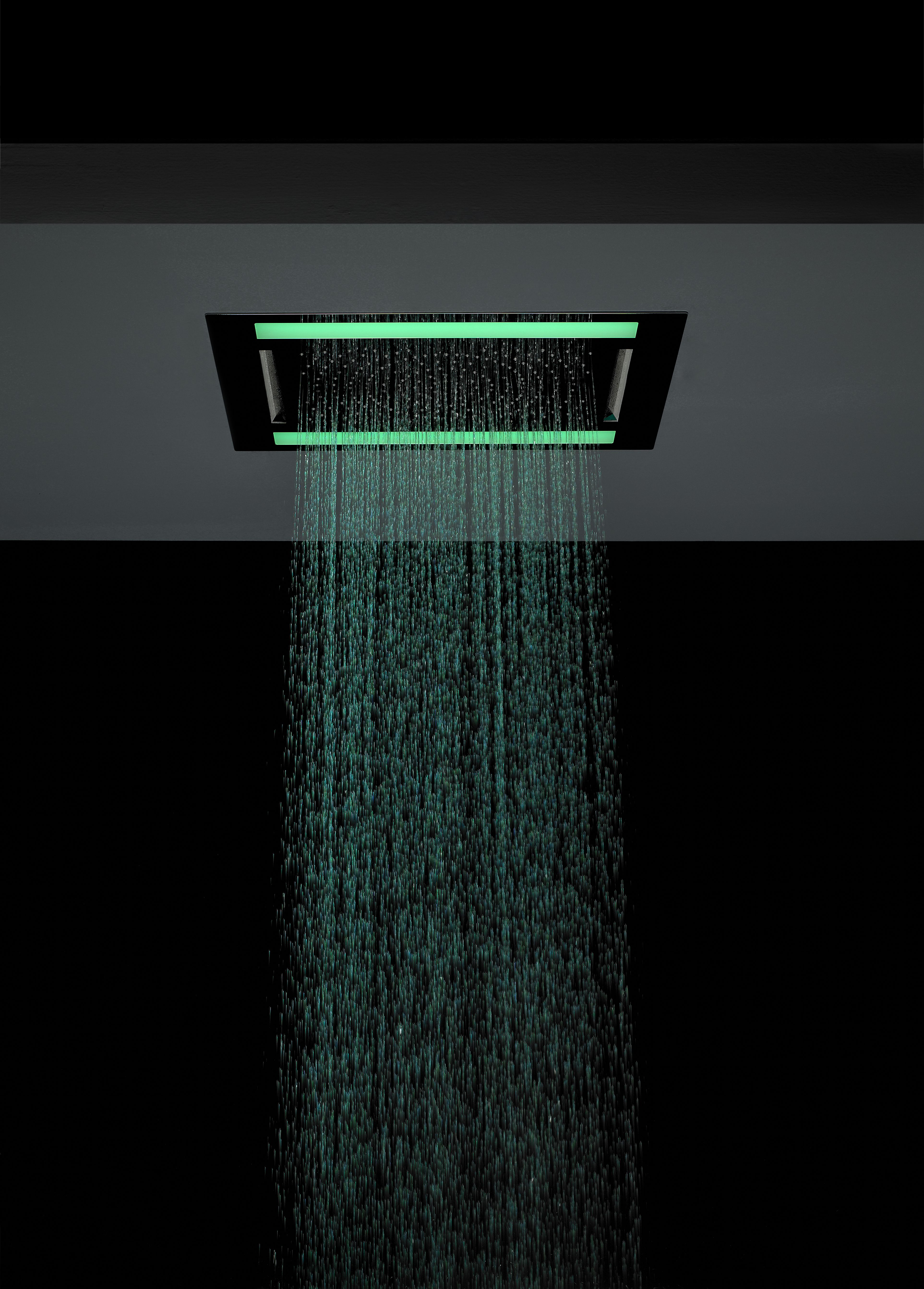Installation at the head with led lighting - Rio Revive Led Fixed Square Shower Head With Led Lights From Crosswater Http