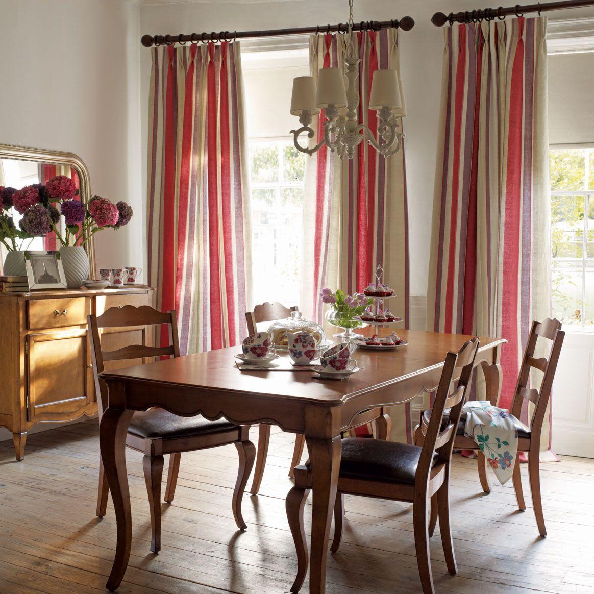 Laura Ashley Furniture Usa: Lovely Dining Room Using Laura Ashley Eaton Stripe Linen