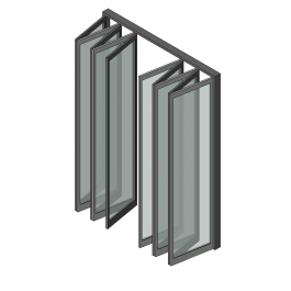 10 Panel Bifold Doors Revit Model Bifold Doors Paneling Doors