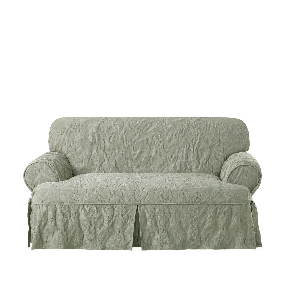 Awe Inspiring Matelasse Damask T Loveseat Sage Green Sure Fit In 2019 Squirreltailoven Fun Painted Chair Ideas Images Squirreltailovenorg