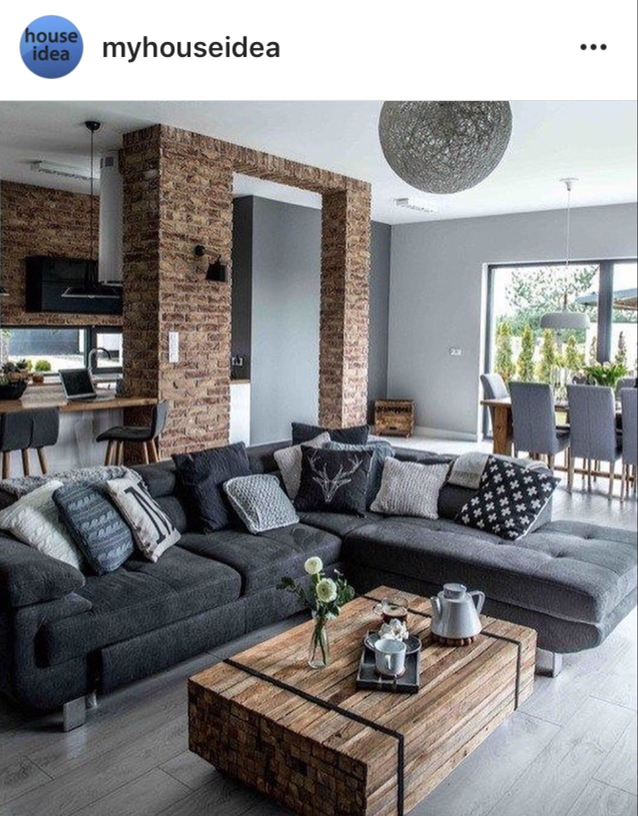 A Little Dark But Grey Floors With Wood Accents Modern
