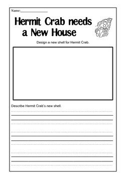 A House For Hermit Crab Activity Page Kindergarten Writing