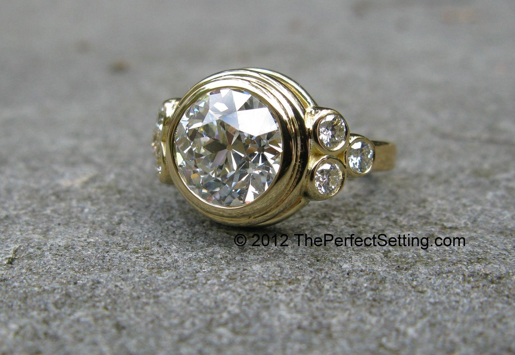 Custom Made Custom Gold And Diamond Engagement, Anniversary, Right Hand Ring