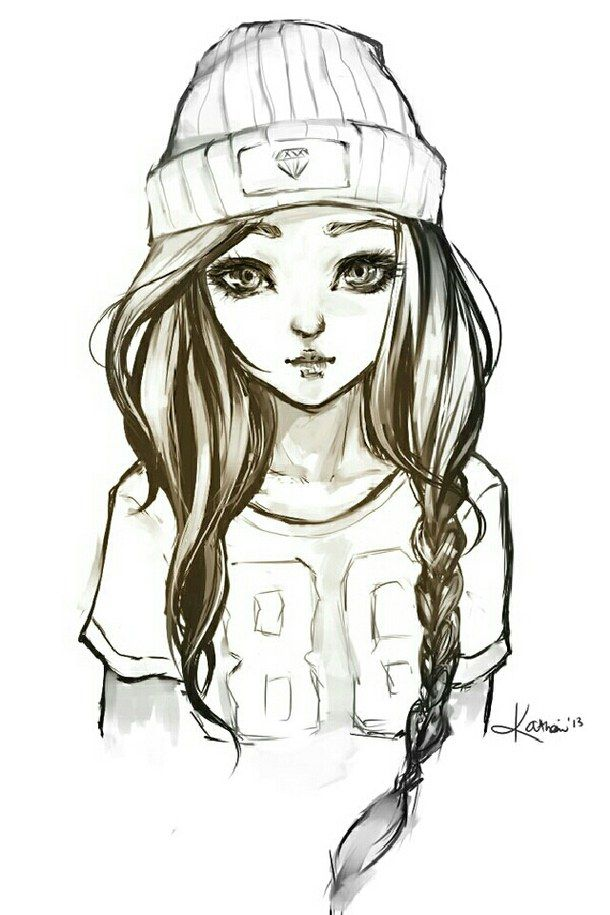 Little Girl Drawign Hipster Drawings Cool Drawings Cool Easy Drawings