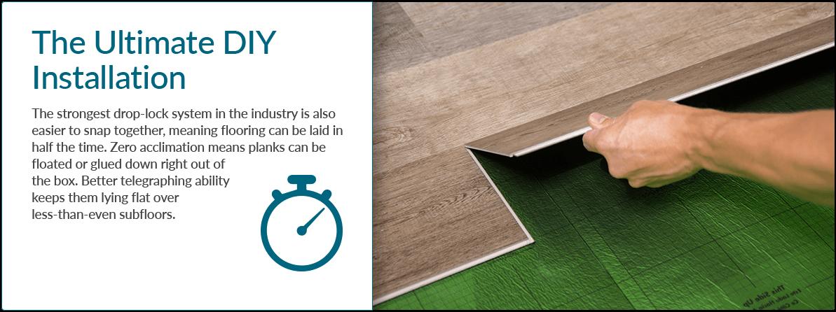 Cali Vinyl Wood Look Vinyl Flooring RapidLocking System Sample - Drop and lock vinyl flooring