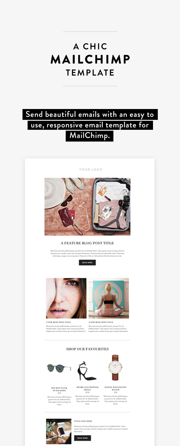 Send beautiful emails with an easy to use responsive for Mailchim templates