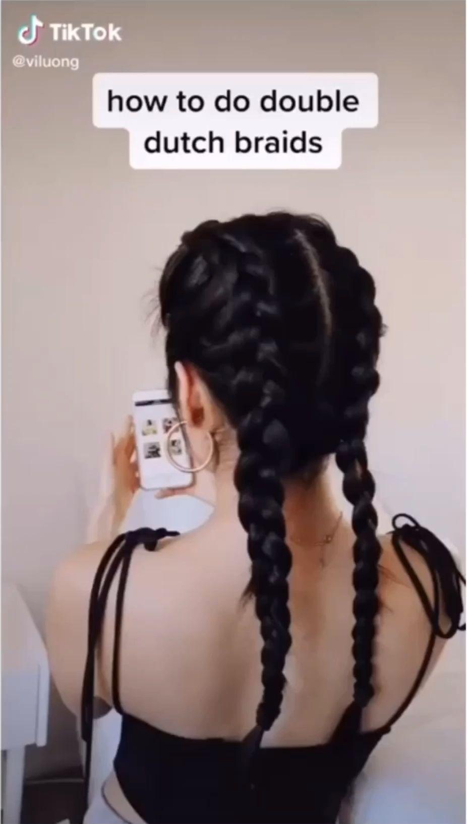 Braids Videos Drawing Tiktok Edgy Hair Aesthetic Hair Hair Hacks