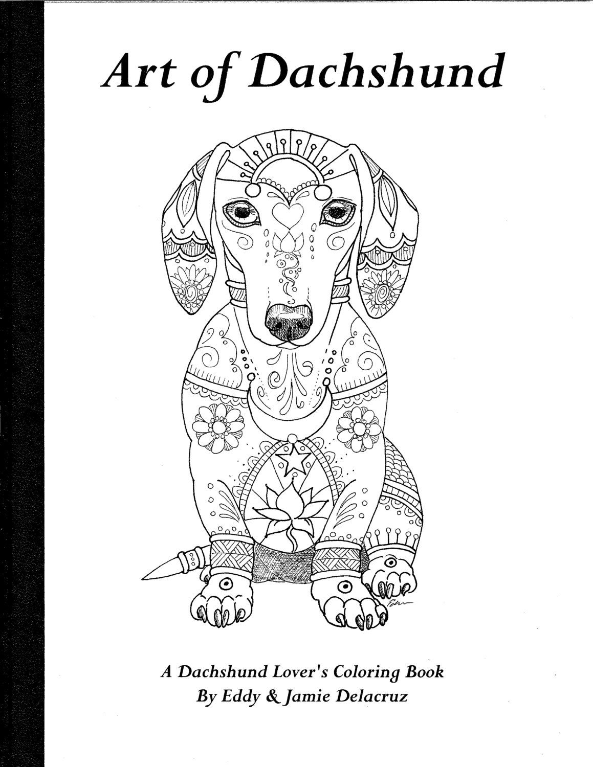 art of dachshund coloring book physical book di artbyeddy su etsy