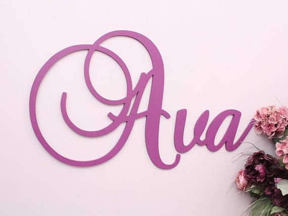 Large Wooden Letters For Nursery Decor, Baby Name Sign, Personalized