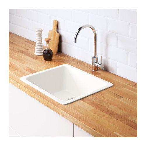 DOMSJÖ Inset sink, 1 bowl - IKEA Bathroom Laundry Room Design - spülbecken küche keramik