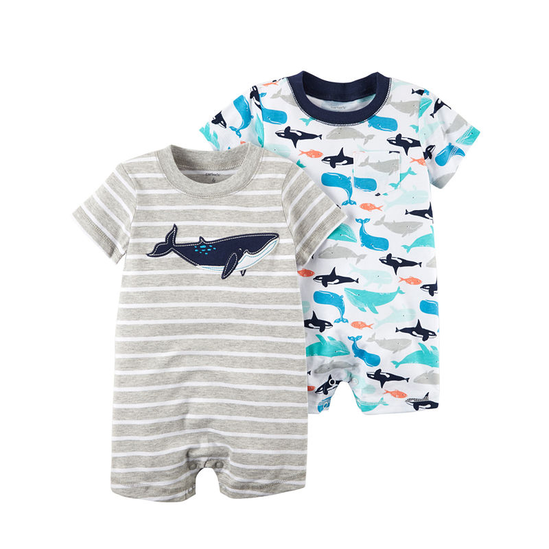 245dc8a52fc0 Carter s 2-Pk. Short Sleeve Rompers - Baby Boys