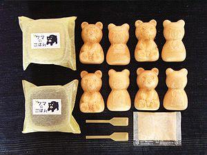 札幌餅の美好屋 北海道クマの形をした最中セット