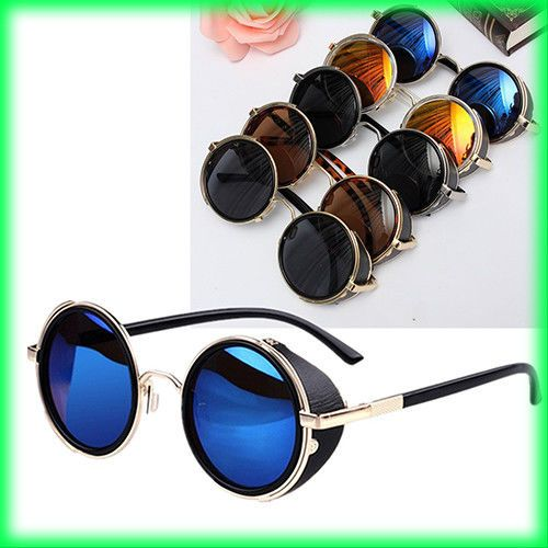 5639b0083758 Cyber Goggles Steampunk Sunglasses Vintage Retro Mirror lens Round Glasses  Cyber  fashion  clothing  shoes  accessories  unisexclothingshoesaccs ...