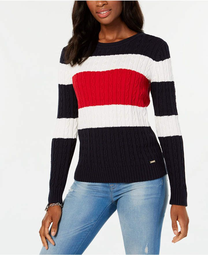 dd29db422d Tommy Hilfiger Cotton Colorblocked Sweater