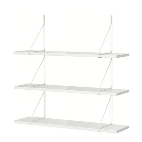 simple ikea ekby tony ekby gll wall shelf high gloss whitewhite solid wood is a durable natural. Black Bedroom Furniture Sets. Home Design Ideas