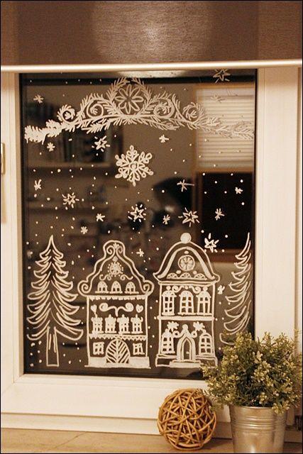 Angefixt Und Infiziert Winterliche Fenstermalereien Mit Kreide Ein Tipp Mit Kleiner Anleitung Meine Bunte Wunderwelt Fensterbilder Weihnachten Fensterdeko Weihnachten Deko Weihnachten Fenster