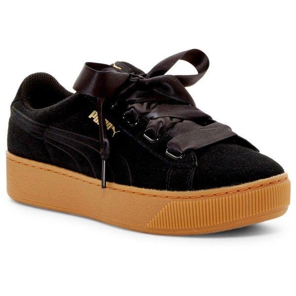 neue niedrigere Preise echte Qualität gesamte Sammlung PUMA Vikky Ribbon Platform Sneaker ($60) ❤ liked on ...