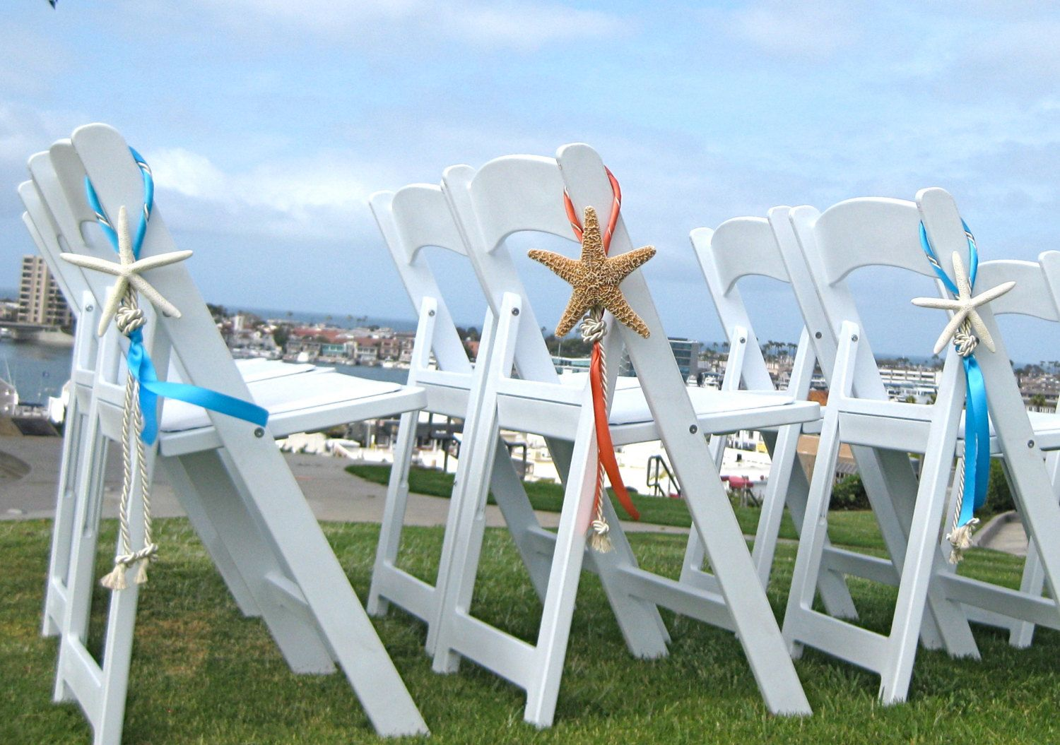 Beach Wedding Decor Starfish Chair By Seashellcollection On Etsy