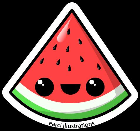 Watermelon Kawaii Drawing Watermelon Kawaii Watermelon Kawaii Watermelon Kawaii Wallpaper Wat Cute Kawaii Drawings Cute Little Drawings Kawaii Drawings