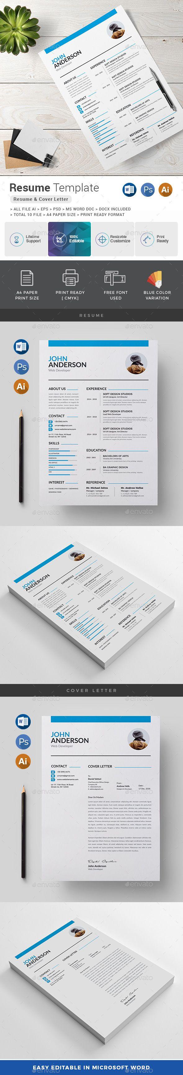 Resume | Template, Ai illustrator and Resume cv